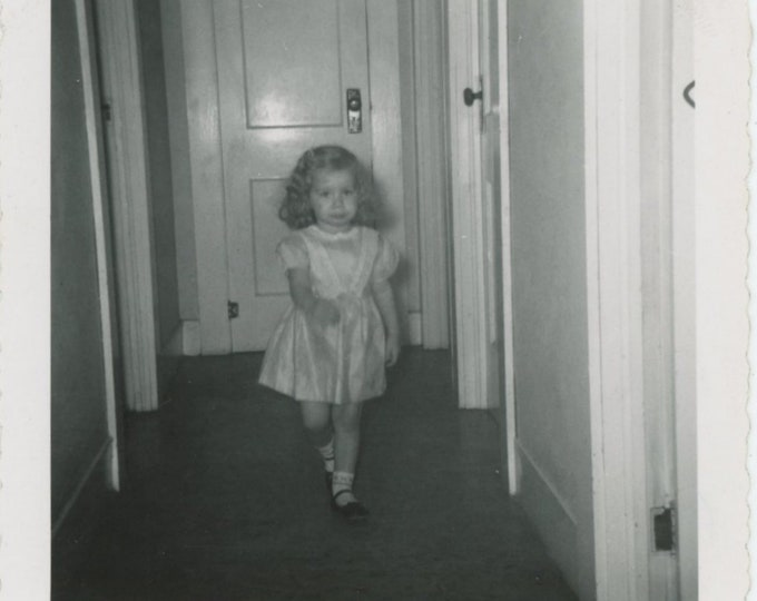 Vintage Snapshot Photo, c1950s: Purpose [84665]