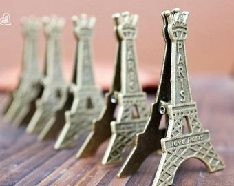 Eiffel Tower Photo Holder- Display Memo Clip Holder- Stand Card -Paper Note Clip