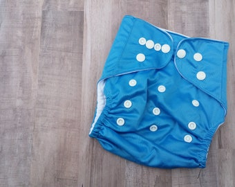 Blue Pocket Cloth Diaper Set