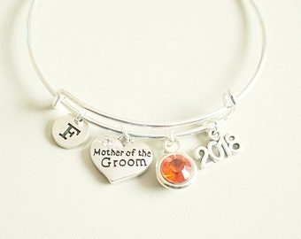 Mother of the groom Gift , Mother of the Groom bracelet, Personalized  Mother of the Groom Gift, Mother in Law  gift,Thank you wedding gift