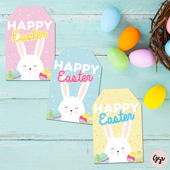 Printable Happy easter tags