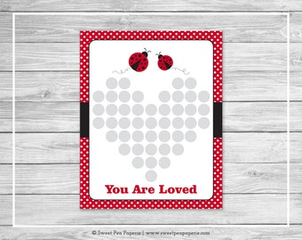 Ladybug Baby Shower Guest Book - Printable Baby Shower Guest Book - Ladybug Baby Shower - Baby Shower Guest Book - Shower Guest Book - SP140