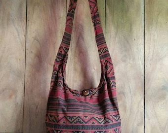 Unique Boho Messenger Bag/ Hippie Bag /Shoulder Bag / Crossbody Bag /Sling Bag / Bohemian Handbag /Size M