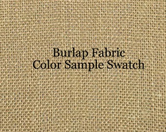 Fabric Sample Swatch for Burlap pinboards