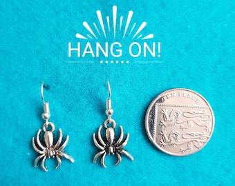 Handmade Tibetan Silver Spider Earrings