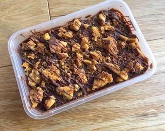 Honeycomb Rocky Road Traybake - Rocky Road Takeaway - Honeycomb Rocky Road Cake Box - Cakeaway - Sweet Takeaway - Chocolate Rocky Road