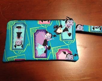 Vampirina zipper pouch, Vampirina wristlet, kids wristlet, child wristlet pouch