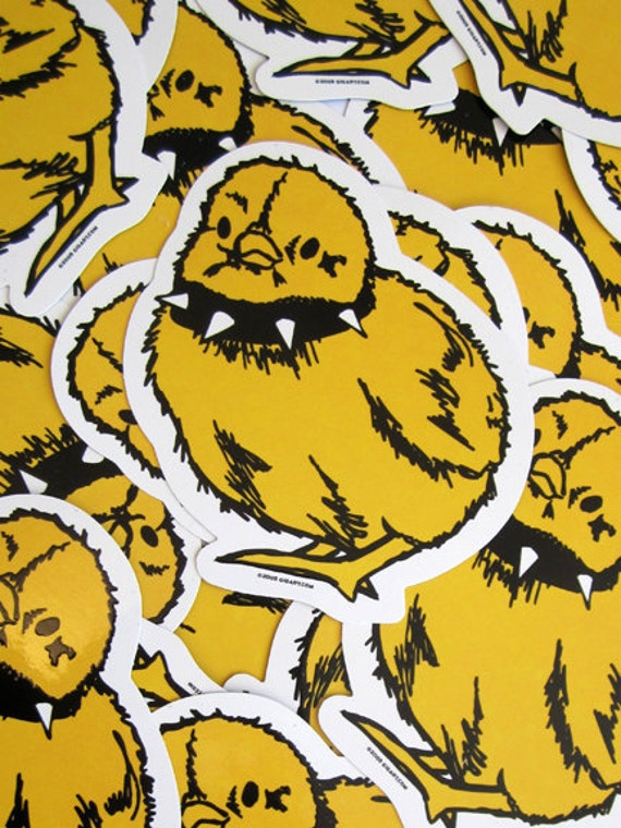 Tough chick die cut vinyl sticker etsy