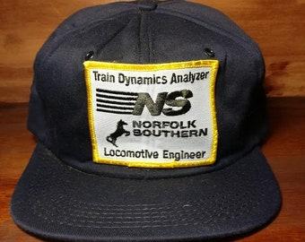 Vintage Norfolk Southern Train Engineer snapback