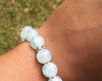 Summer Ice Gemstone Bracelet   Stackable Bracelet   Statement Jewelry   Layering Bracelet