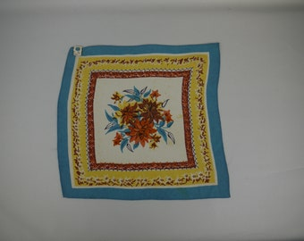 1930s or 1940s Floral Hankie With Tag - Perfect Gift