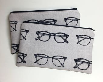 Pencil Case Zip Pouch - Glasses