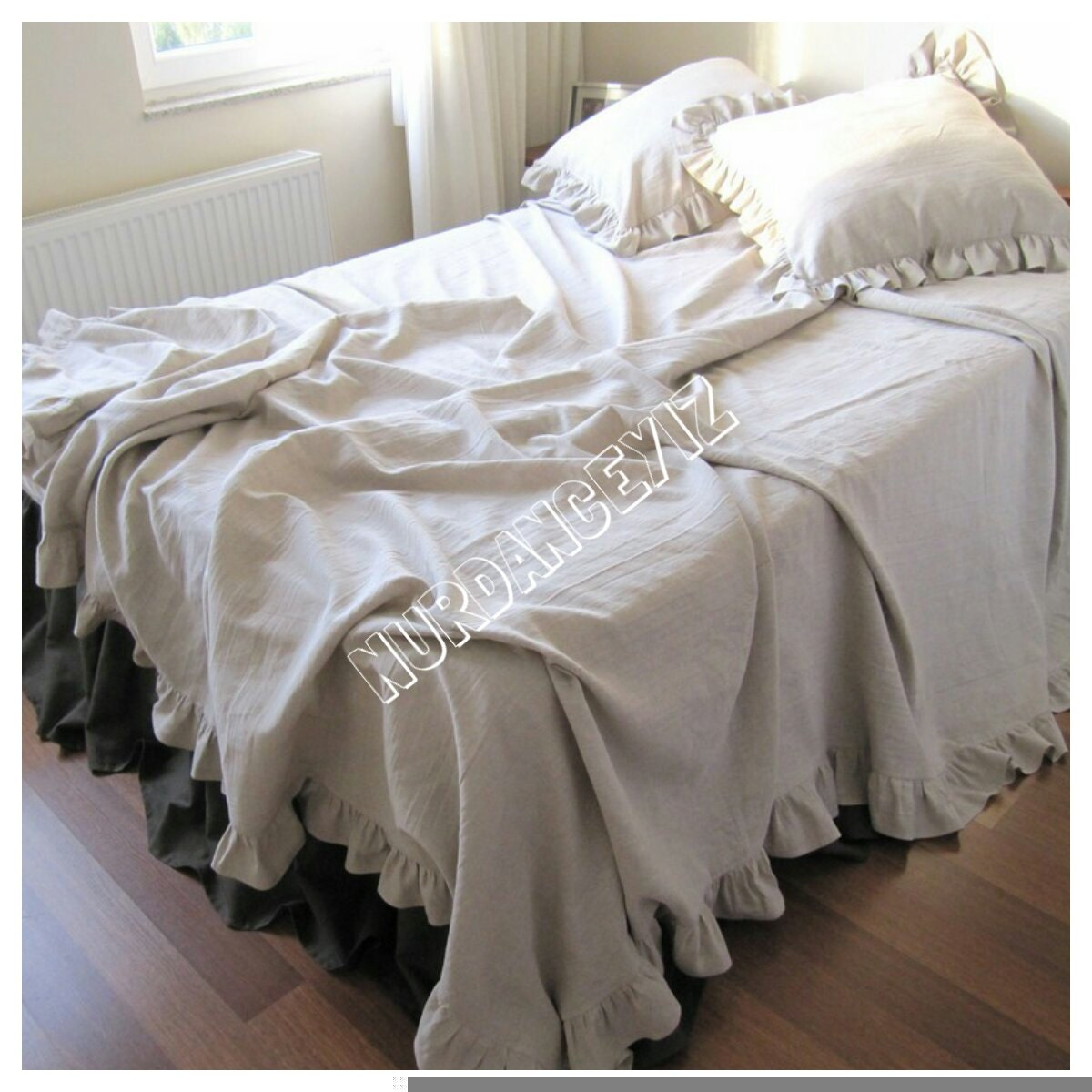Bedspread King 120x120 queen Bed spread Ruffled Ruffled Bedspreads