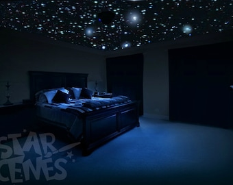 Ceiling Stars for Romantic Bedroom - DIY Glow in the Dark Star Decals. Surprise Anniversary Gift - Celestial Skies! Free Gift Wrapping.