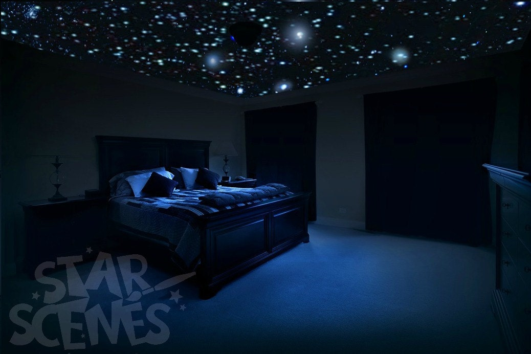 Ceiling Stars for Romantic Bedroom DIY Glow in the Dark Star