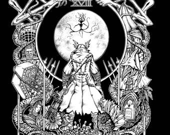 Bloodborne tarot shirt The Moon