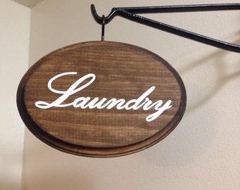 Adorable Bathroom Sign (Laundry)