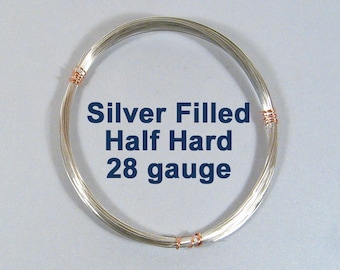 28ga Silver Filled Wire - Half Hard - Choose Your Length