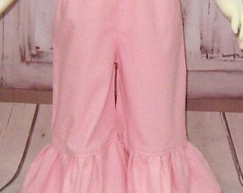 Pink Girl Pant, Pink Ruffle Pant, Toddler Pink Pant, Light Pink Ruffle Pant, Fall Pant, Infant Girl Pink Pant, Back To School Ruffle Pant