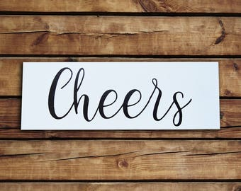 Cheers wood Sign - Bar Sign - Wall Decor