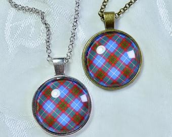 Edinburgh District Tartan - Handmade Scottish Tartan Pendant/Keychain