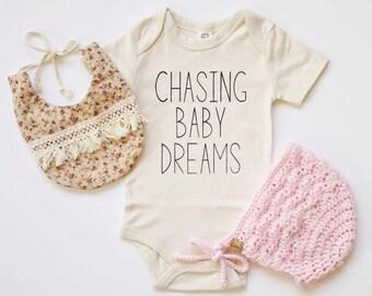 Chasing Baby Dreams Baby Bodysuit - Organic Bodysuit, Organic Children's Clothing