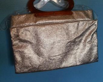 Vintage Silver Foil fold over purse