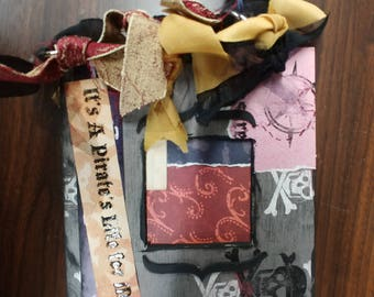 It's A Pirate's Life handmade mini book, Rusty Pickle project. Add YOUR photos and personalize!