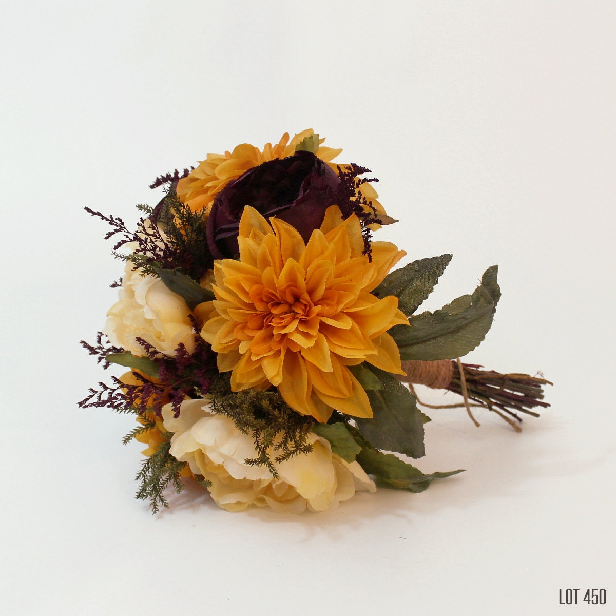 Pretty dry flower wedding bouquets contemporary images for wedding fall wedding bouquet silk and dry flower bridal boquet bride izmirmasajfo Choice Image