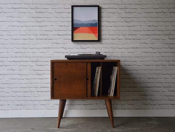 Elegant Eiden Record Storage Cabinet Mid Century Modern Inspired