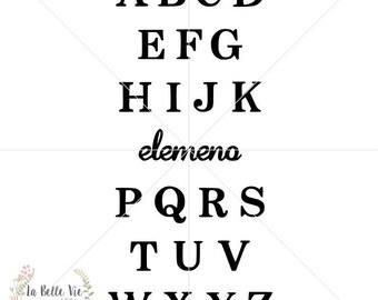 ABCs - Elemeno SVG & PNG file