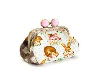 Fairy tale tic animals metal frame purse, coin purse, kiss lock purse