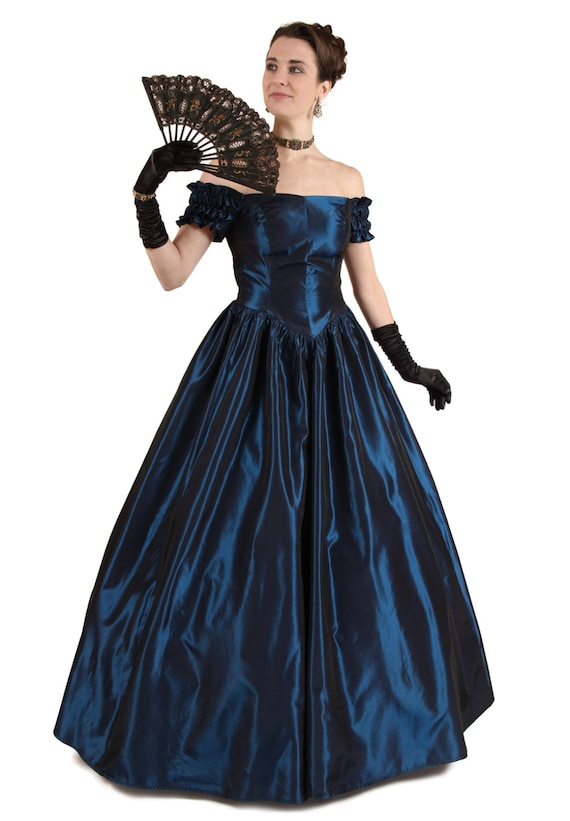Victorian Dresses, Clothing: Patterns, Costumes, Custom Dresses Chantelle Victorian Ball Gown $165.00 AT vintagedancer.com