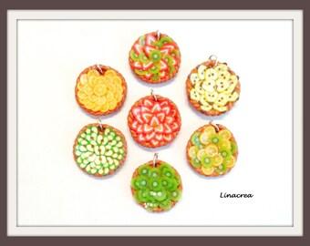 1 pair of earrings to choose fruit TART.