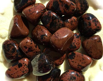 Tumbled Mahogany Obsidian, Full Moon Charged, Chakra, Reiki, Meditation, Pagan Altar, Ritual and Ceremony, Crystal Crid, Sacred Space!