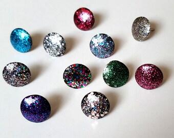 Grab Bag Glitter Thumbtacks, Push Pins Set. Perfect for Bulleting Boards, Office Gifts, Office Decor.