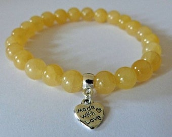 Honey Calcite Help With Change Crystal Healing Gemstone Bracelet Amelie Hope Crystals Power Bead