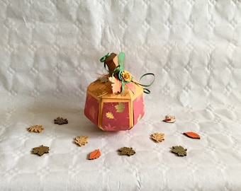 Pumpkin, Autumn, Halloween, Thanksgiving, Harvest Festival, paper, Gift wrapping, box, decoration