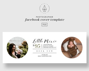Facebook Cover Template, Facebook Template, Facebook Banner, Photography Mini Session Template, Photoshop,  Photographer Marketing Template