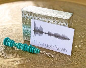 CUSTOM Sound Wave Keychain - Personalized Gift