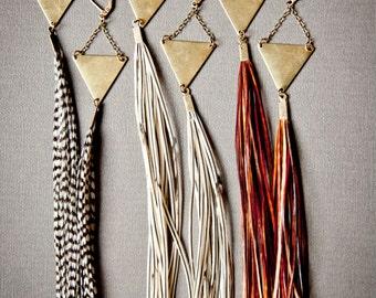 Lange Feder Ohrringe Statement Ohrringe - Boho Ohrringe - Boho Schmuck - Extra lange Ohrringe - Stammes - böhmische Ohrringe