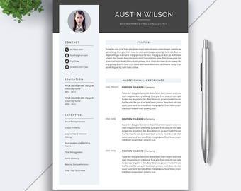 Professional Resume Template, CV Template, Cover Letter, MS Word, Mac PC, Creative Resume, Modern Teacher Simple Resume, Icon Set, Austin