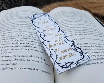 The Cruel Prince Holly Black Quote Bookmark - If I Cannot Be Better Than Them