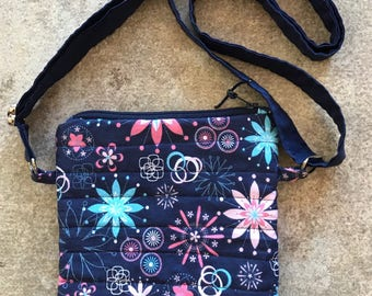 Handy Pouch - Floral with Adjustable Strap