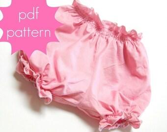 Bloomers - INSTANT download - PDF Sewing Pattern - Diaper Cover - nb, 3m, 6m, 12m, 18m, 2t, 3t, 4t, 5t, Doll (Preemie)