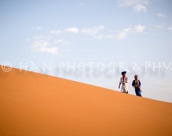 Nomadic Boys in the Sahara Desert
