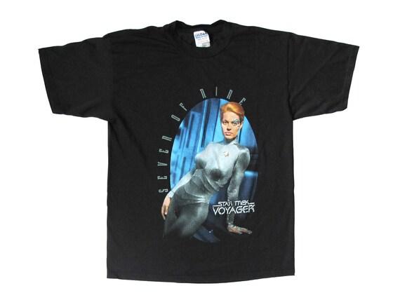 Vintage Seven of Nine Star Trek Voyager Lean T-Shirt