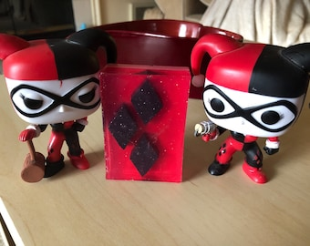 Harley Quinn inspired soap, scented soap, limited stock