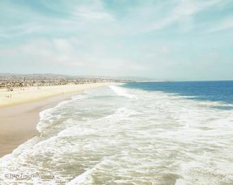 California Beach, Photography Print, Ocean Wall Art,  Beach Scene, Coastal Home Decor, Newport Beach, Wall Decor, Surf Decor, Beach Photo
