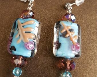 Asian Inspired Turquoise Earrings
